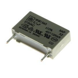Fóliový kondenzátor odrušovací X2 100nF/275V RM 15mm 18x11x5.5mm Iskra KNB1560 U1 10% 275V L4 R15