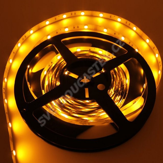 LED pásek žlutá délka 1 metr, SMD 5050, 30LED/m - nevodotěsný STRF 5050-30-Y
