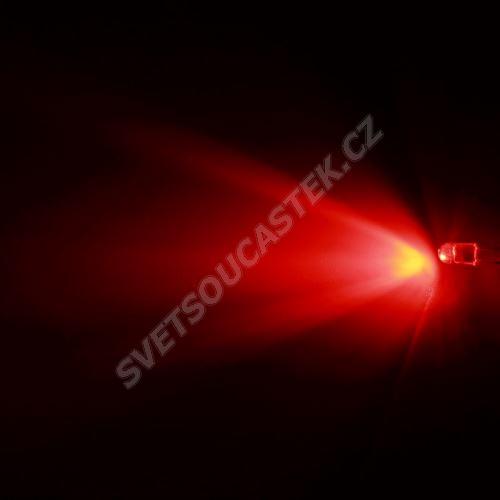 LED oválná 5,6x4,6mm červená 2100mcd/(20/55°) čirá Hebei 725MR2C
