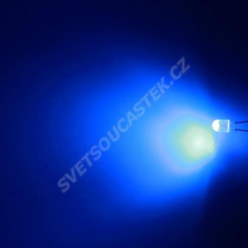 LED oválná 5,2x3,8mm modrá 1100mcd/(110/50°) difúzní Hebei 7511LB7D-SB