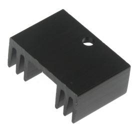 Hliníkový chladič pro TO220 černý anodizovaný Alutronic PR19/20/SE