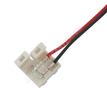 Propojovací kablík pro 8mm LED pásky s 15cm vodičem s volnými konci