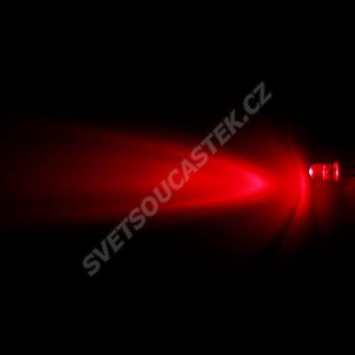 LED 5mm červená 2000mcd/30° čirá Hebei 530FR4C