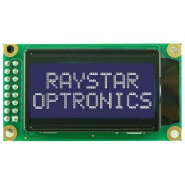 Alfanumerický LCD displej Raystar RC0802A-TIW-ESV