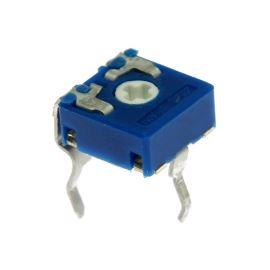 Uhlíkový trimr 6mm lineární 100 Ohm ležatý 20% ACP CA6XV5-100A2020