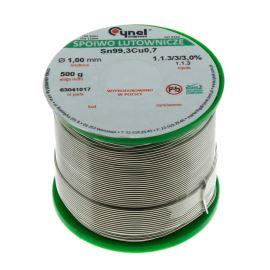 Bezolovnatá spájka 1.0mm 500g Sn99.3Cu0.7 Cynel SN99C-1.0 / 0.5
