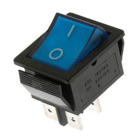 Kolébkový spínač do panelu spínací 2-pólový ON-OFF 20/15A 125/250V AC Jietong  RS-201-1C3-BL/B