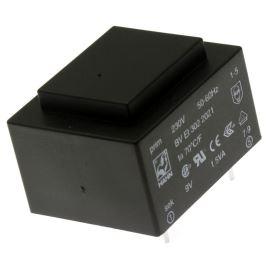 Transformátor miniaturní do DPS 0.5VA/230V 2x6V Hahn BV 202 0155