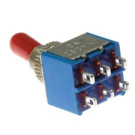 Páčkový spínač do panelu přepínací 2-pólový ON-ON 6/3A 125/250V AC Jietong  KNX-2-D1