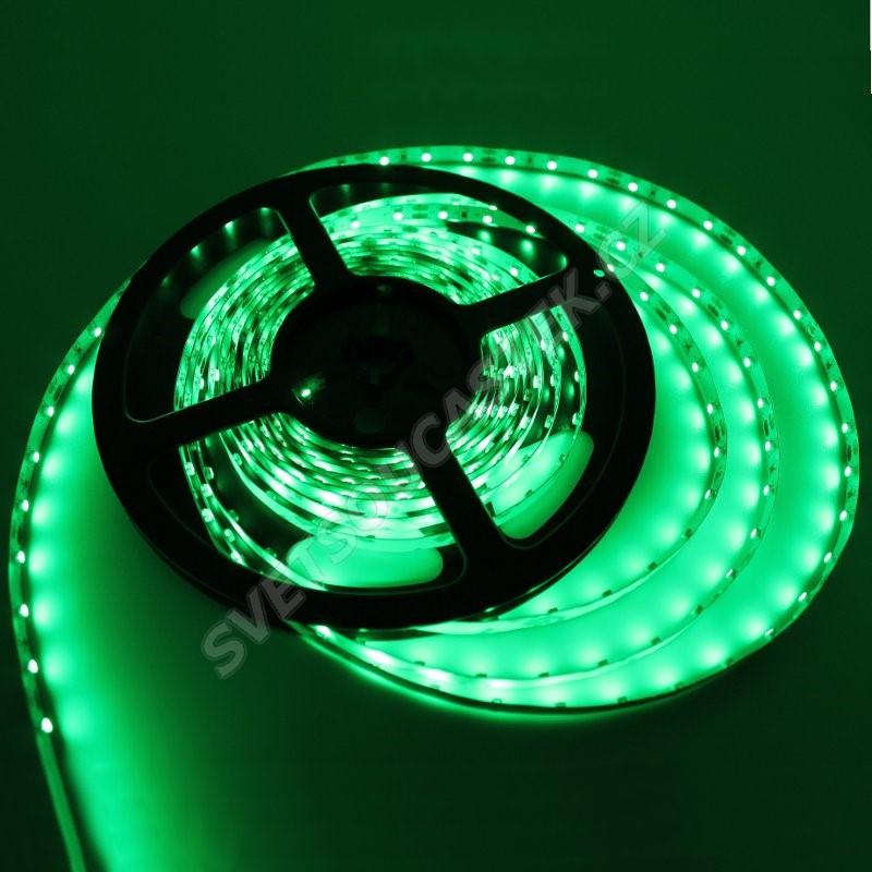 LED pásek zelená délka 1 metr, SMD 3528, 60LED/m - nevodotěsný STRF 3528-60-G