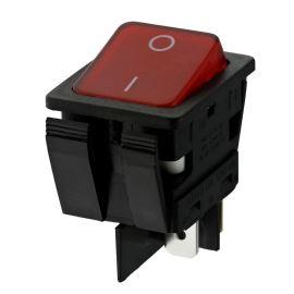 Kolébkový spínač do panelu spínací 2-pólový ON-OFF 16A/250V AC Arcolectric C6053ALNAE