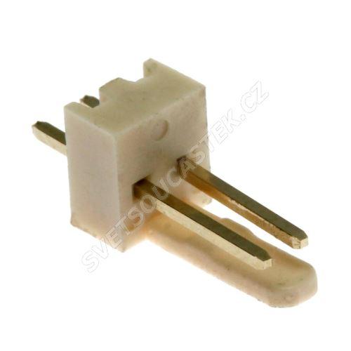 Konektor se zámkem 2 piny (1x2) do DPS RM2.54mm přímý pozlacený Xinya 137-02 S G