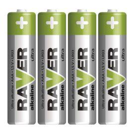 Alkalická batéria RAVER LR03 (AAA), 4 ks v blistri