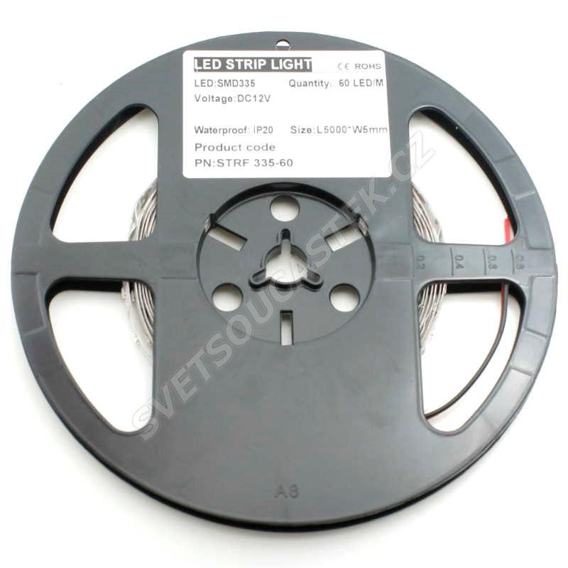 LED pásek přírodní bílá délka 1 metr, SMD 335 (boční), 60LED/m - nevodotěsný STRF 335-60-NW