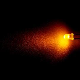 LED 3mm žlutá 20mcd/30° difúzní Optosupply OSNY3134A