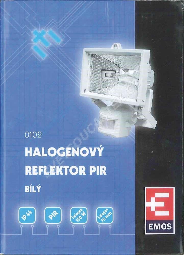 Halogenový reflektor 150W bílý s pohybovým čidlem