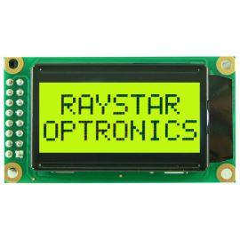 Alfanumerický LCD displej Raystar RC0802A-FHY-ESV