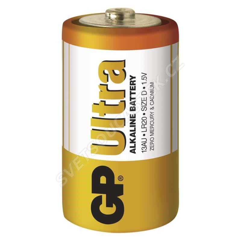 Alkalická batéria GP Ultra LR20 (D), 2 ks v blistri