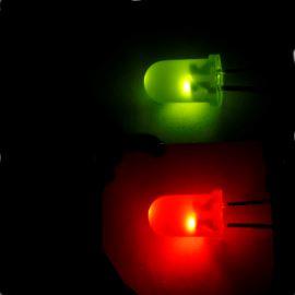 LED 5mm červeno-zelená 30/20mcd/60° difúzní Kingbright L-57EGW
