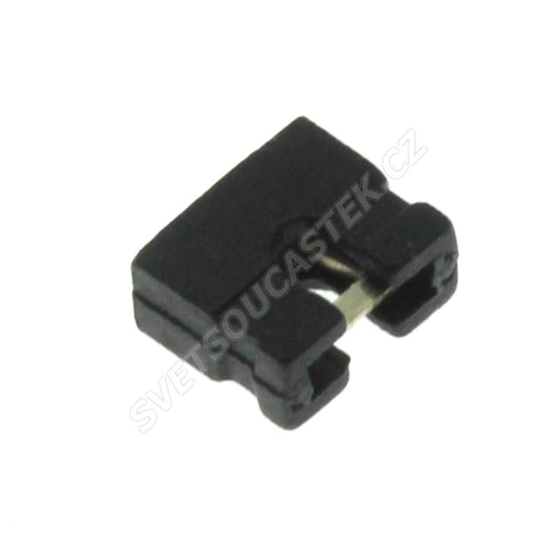 Černý JUMPER otevřený RM2.0mm Ninigi JUMPER-2.0/B
