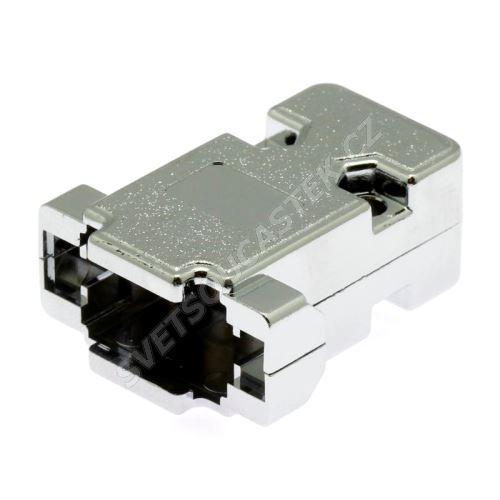 Kryt konektoru CANON 9 pinů plastové tělo, chromovaný povrch Xinya 158-09 P C