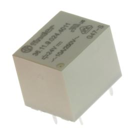 Elektromagnetické relé s DC cívkou do DPS 24V DC 10A Finder 36.11.9.024.4011