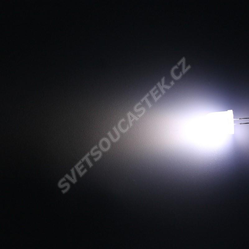 LED 10mm stud. bílá 3000mcd/50° difúzní Hebei 105PWD