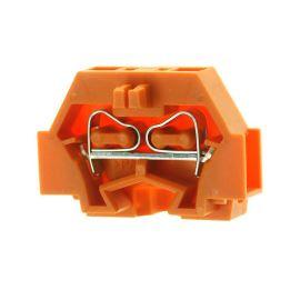Svorkovnice na DIN lištu oranžová 400V/18A WAGO 260-306