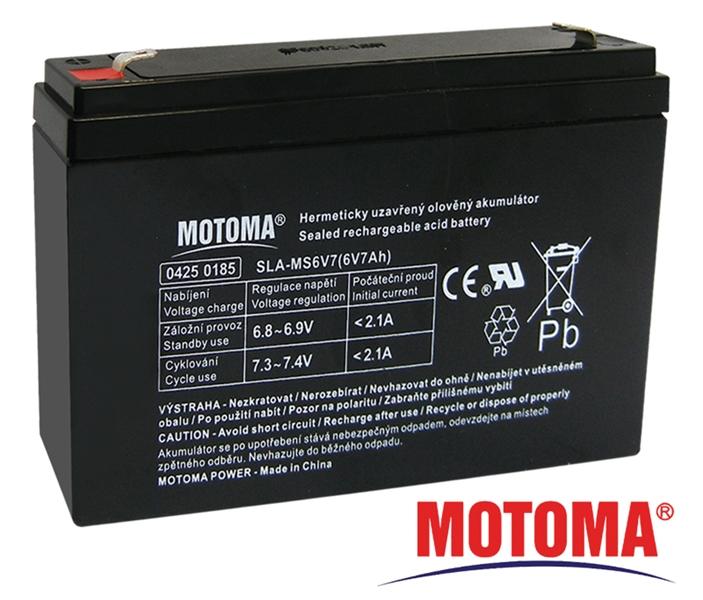 MOTOMA Baterie olověná 6V / 7Ah bezúdržbový akumulátor