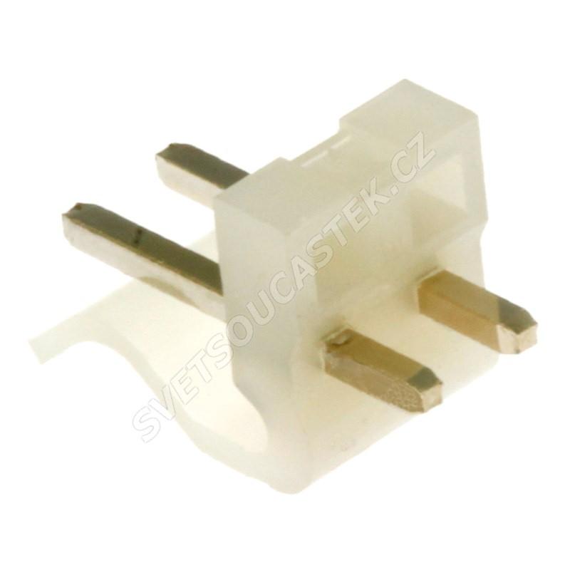 Konektor se zámkem 2 piny (1x2) do DPS RM3.96mm přímý pozlacený Xinya 134-02 S G