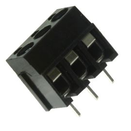 Šroubovací svorkovnice do DPS 3 kontakty 16A/250V RM5.0mm černá barva XY305A(5.0) 3P