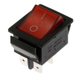 Kolébkový spínač do panelu spínací 2-pólový ON-OFF 20/15A 125/250V AC Jietong  IRS-201-1C3-R/B