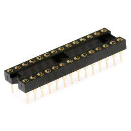 Precizní patice pro IO 28 pinů úzká DIL28 Xinya 126-3-28RG