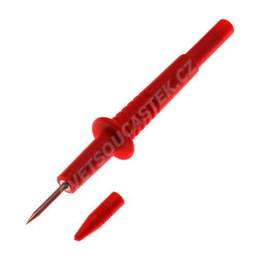 Meracie hrot 2mm červený násuvný pre banánik 4mm Amass 20.156.1.N