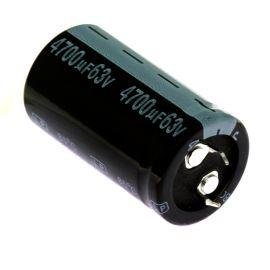 Elektrolytický kondenzátor Snap-in E 4700uF/63V 25x45 RM10 85°C Jamicon LPW472M1JO45M