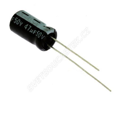 Elektrolytický kondenzátor radiální E 47uF/50V 6.3x11 RM2.5 85°C Jamicon SKR470M1HE11M