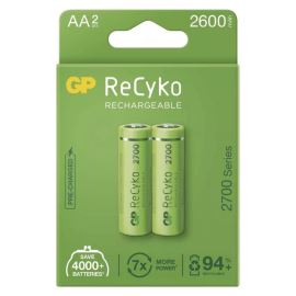 Nabíjecí baterie GP ReCyko+ 2700 HR6 (AA), 2 ks v papírové krabičce