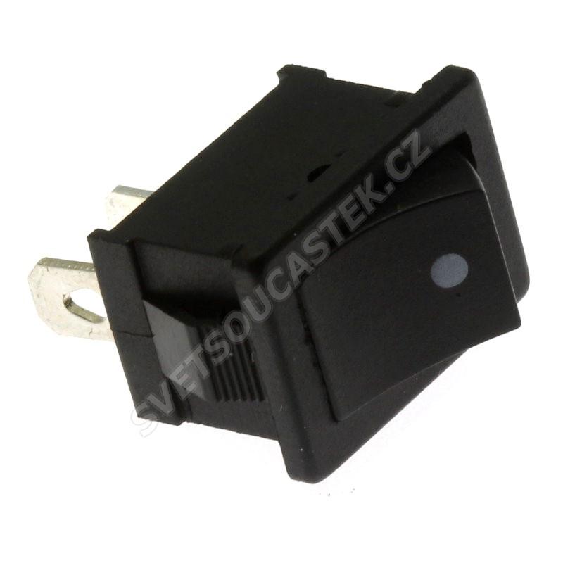 Kolébkový spínač do panelu spínací 1-pólový (ON)-OFF 6/3A 125/250V AC Jietong  MRS-111A-C2-B/B