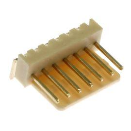 Konektor se zámkem 7 pinů (1x7) do DPS RM2.54mm úhlový 90° pozlacený Xinya 137-07 R G