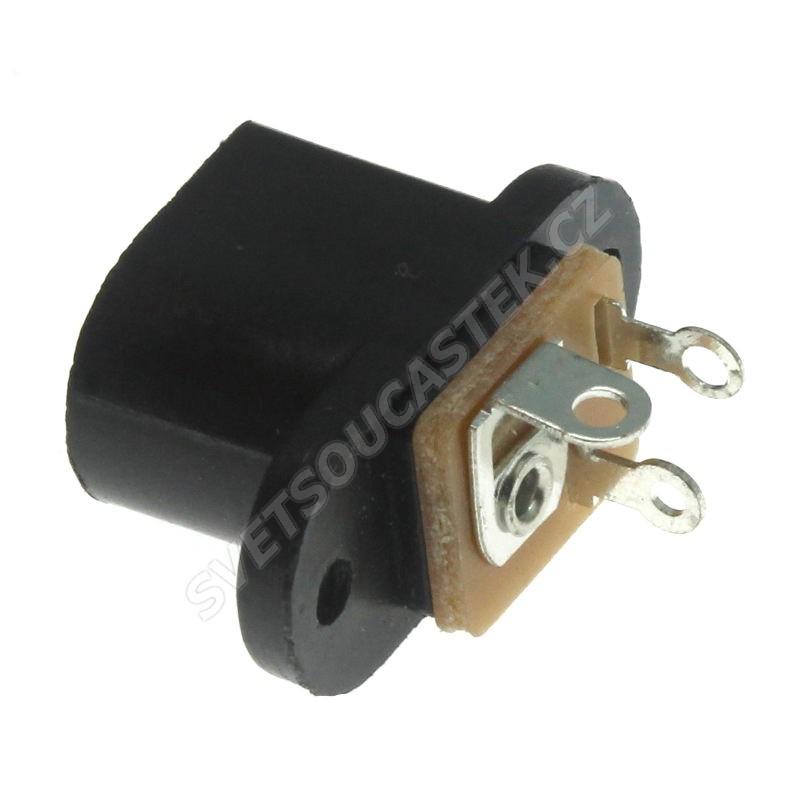 Napájecí konektor souosý 5.5/2.1mm vidlice s vypínačem přímá do panelu Ninigi PC-010C