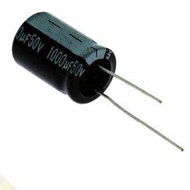 Elektrolytický kondenzátor radiální E 1000uF/50V 16x25 RM7.5 85°C Jamicon SKR102M1HK25M