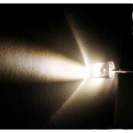 LED 5mm teplá bílá 42000mcd/15° čirá Optosupply OSM54L5111P