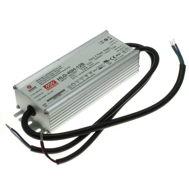 Mean Well Napájecí zdroj pro výkonové LED Mean Well HLG-40H-12B