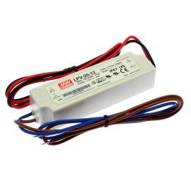 Napájací zdroj pre LED pásky 20W 12V / 1.67 IP67 Mean Well LPV-20-12