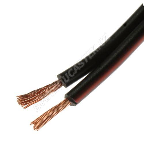 Kabel dvojinka 2x0.35mm černorudá CYH (SMYp, VM00VH-H) 50V