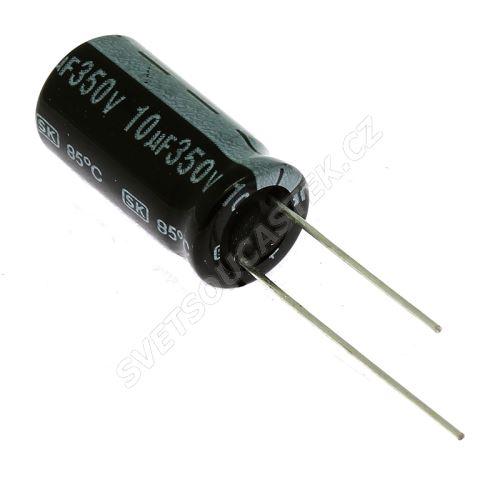 Elektrolytický kondenzátor radiální E 10uF/350V 10x21 RM5 85°C Jamicon SKR100M2VG21M