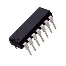 Operační zesilovač bipolární 4x nízkopříkon. napájení +-1.5..15V šířka pásma 1.3MHz DIP14 STM LM324N
