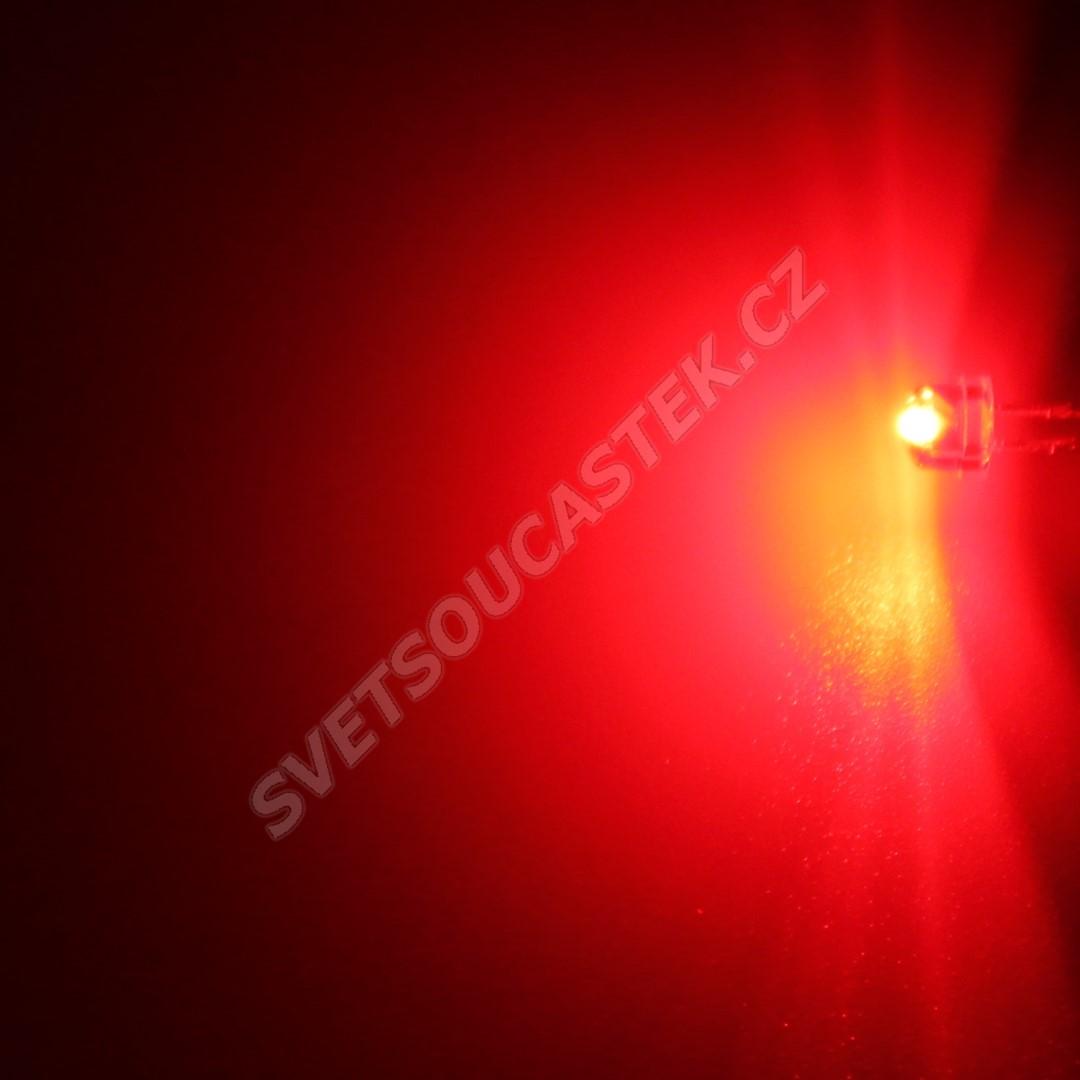 LED 4,8mm červená 195mcd/170° čirá Hebei 412PR2C