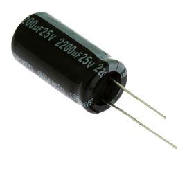 Elektrolytický kondenzátor radiální E 2200uF/25V 12.5x25 RM5 85°C Jamicon SKR222M1EJ26M