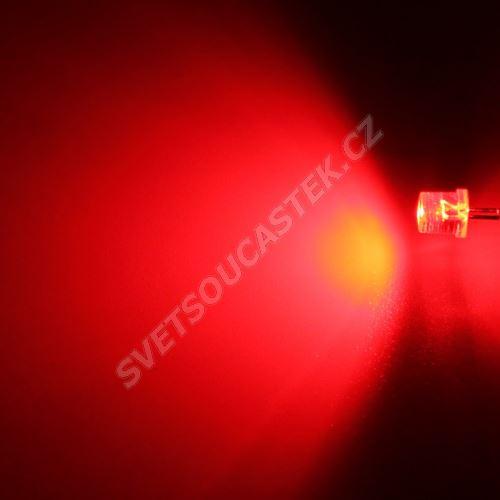 LED 5mm červená 1100mcd/100° čirá Hebei 599PR2C